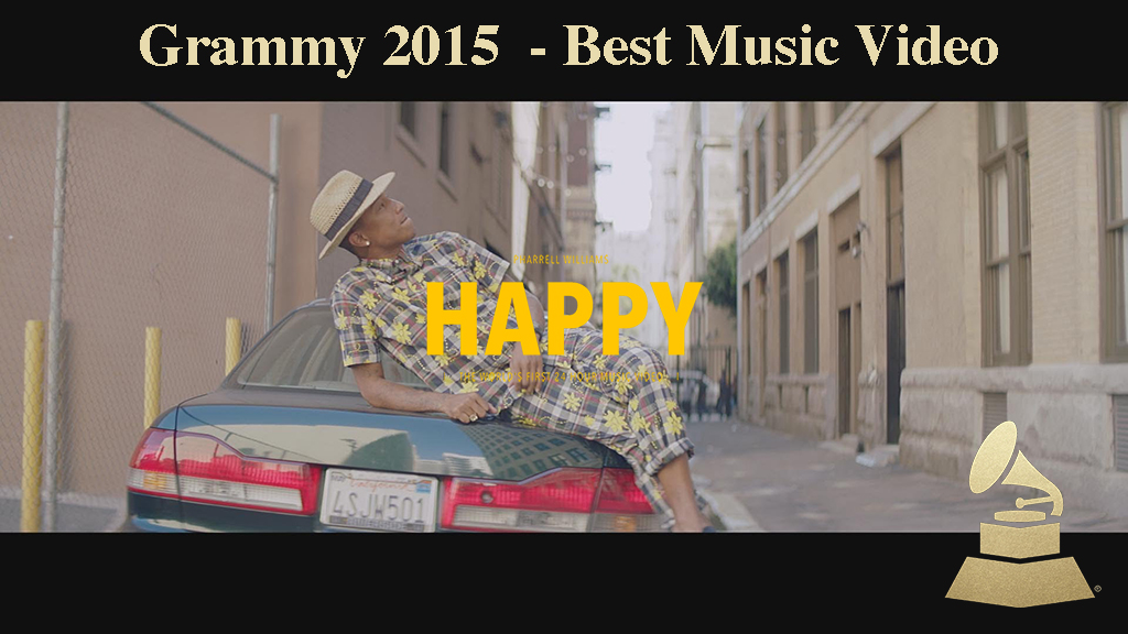 'Happy' Pharrell Williams<br><br>Director We Are From LA<br>Producer Cédric Troadec<br> Production Co Iconoclast
